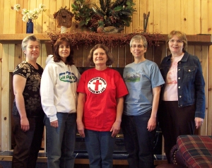 Yvonne, Edna, Susan, Angela, and me at a Pine Lake writing retreat