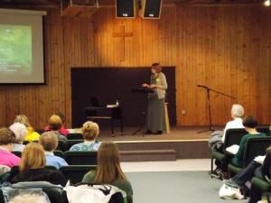 Glenda speaking