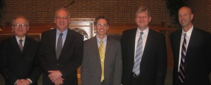 Rev. Mark Vander Hart, Dr. Nelson Kloosterman, Rev. Corey Dykstra, Rev. Harry Zekveld, Rev. Jeph Noble