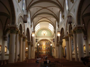 Interior of the Cathedral Basilica of St. Francis of Assisi in Santa Fe