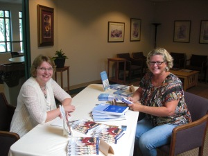 Glenda Mathes and Diane Smith at my September 9 book signing