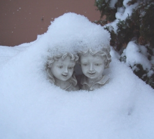 snowy boy and girl