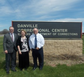 With Rev. Nathan Brummel and John Surowiec after teaching a writing seminar at Divine Hope Reformed Seminary in Danville prison in Illinois.