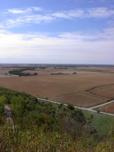Western Iowa's Loess Hills (photo credit-Glenda Mathes)