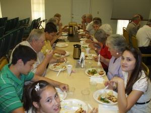 Church fellowship supper