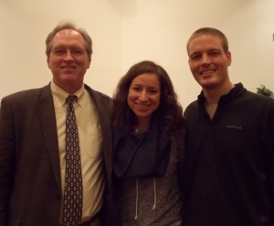 Dr. Troxel with his daughter and her husband