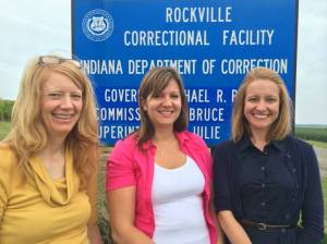 Paula Brummel, Meagen Jagersma, and Shari Faber visit the facility at Rockville