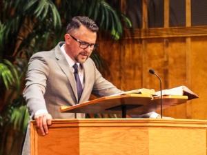 Brown preaches